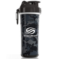 SmartShake Double Wall vahetatava disainiga šeiker, Camo Grey/Black (750 ml)