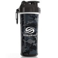 SmartShake Double Wall vahetatava disainiga šeiker, Camo Grey/Black (750 ml)