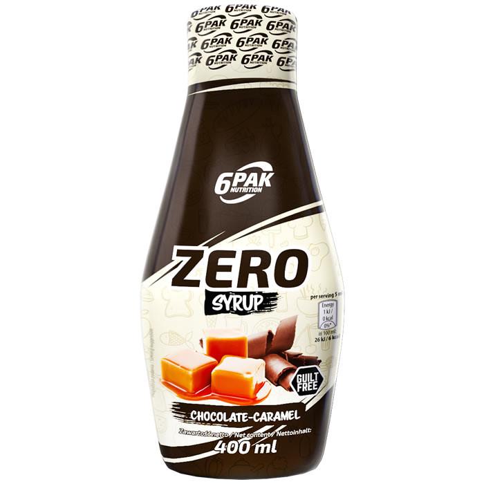6PAK Syrup Zero, Karamelli-šokolaadi (400 ml)