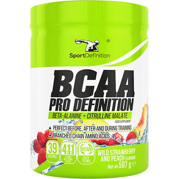 Sport Definition BCAA Pro Definition (4:1:1 instant + Beta-Alanine), Metsmaasika-virsiku (507 g)