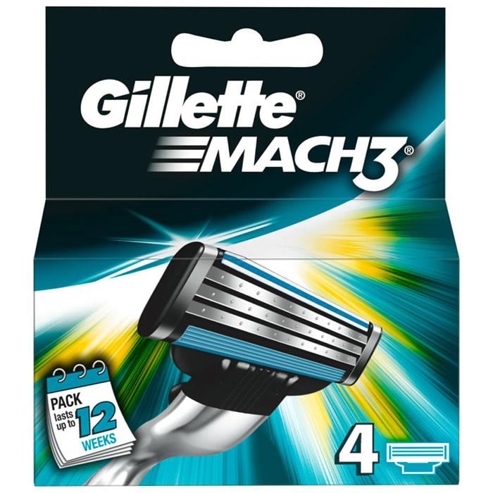 Gillette Mach3 lisaterad (4 tk)