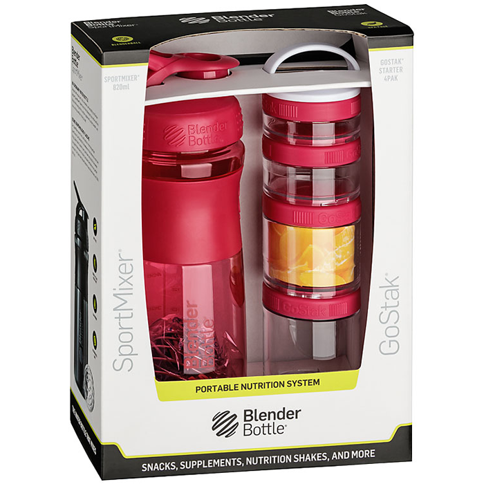 BlenderBottle ComboPak Sportmixer-GoStak komplekt, Pink
