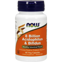 NOW Acidophilus & Bifidus 8 Billion probiootikumid kapslites (60 tk)