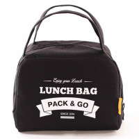 Lunch Bag ZIP termokott, Must