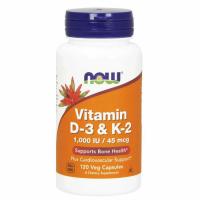 NOW Vitamiin D3 ja K2 õlikapslid (1000 IU, 120 tk)