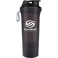 SmartShake Slim šeiker, Must (500 ml)