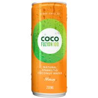 CocoFuzion100 gaseeritud kookosvesi, Mango (250 ml)