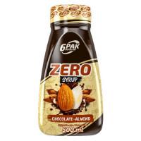 6PAK Syrup Zero siirup, Šokolaad mandlitega (500 ml)