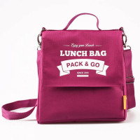 Lunch Bag L+ termokott, Fuksia