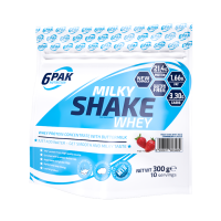 6PAK Nutrition Milky Shake Whey valgupulber, Maasika (300 g)