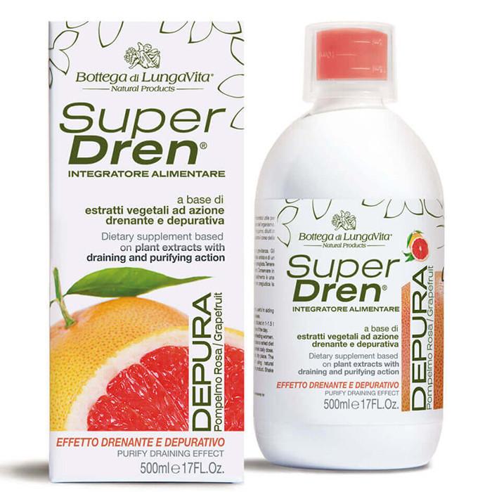 SuperDren Depura Grapefruit ainevahetust kiirendav ja tselluliiti vähendav toidulisand (500 ml)
