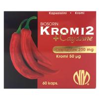 Biosorin kroomi ja Cayenne ekstrakti kapslid (60 tk)