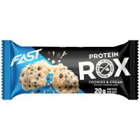 Fast Rox batoon, Kreemiküpsise-valge šokolaadi (55 g). Parim enne 28.08.2019