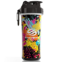 SmartShake Double Wall vahetatava disainiga šeiker, Jungle/Graffiti (750 ml)