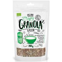 Diet Food Bio Green Granola müslisegu odraorase-ja spirulinapulbri, kanepi-ja kõrvitsaseemnetega (200 g)