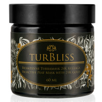 Turbliss bioaktiivne turbamask 24K kullaga (60 ml)