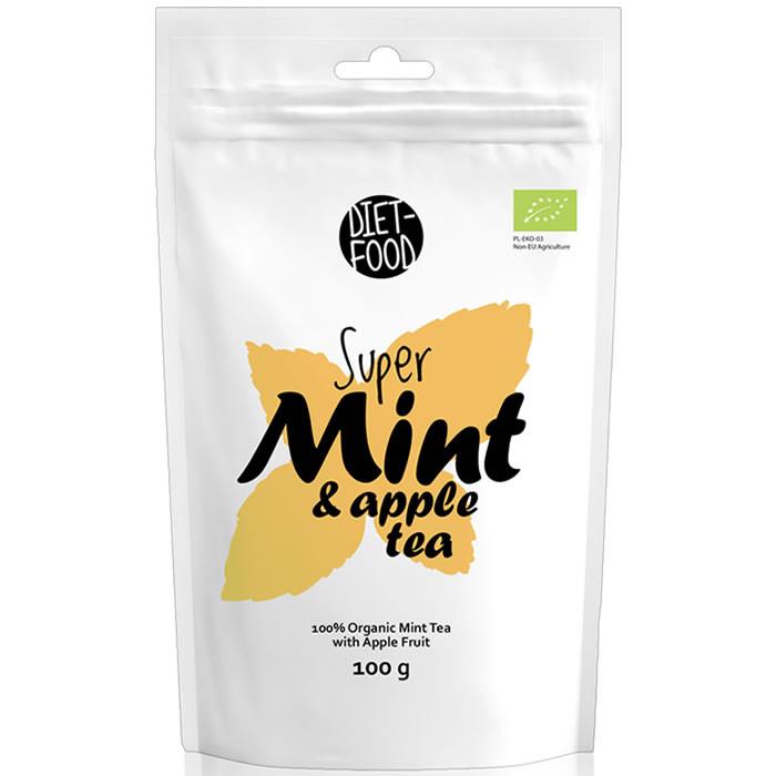 Diet Food Super Mint & Apple Tea Orgaaniline piparmünditee õuntega (100 g)