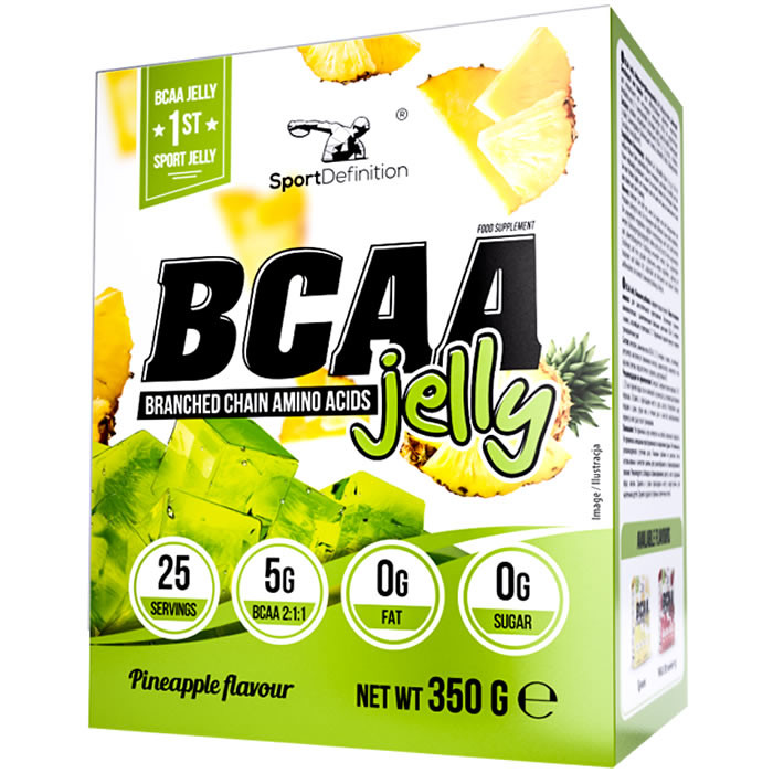 Sport Definition BCAA Jelly tarretise pulber, Ananassi (350 g)