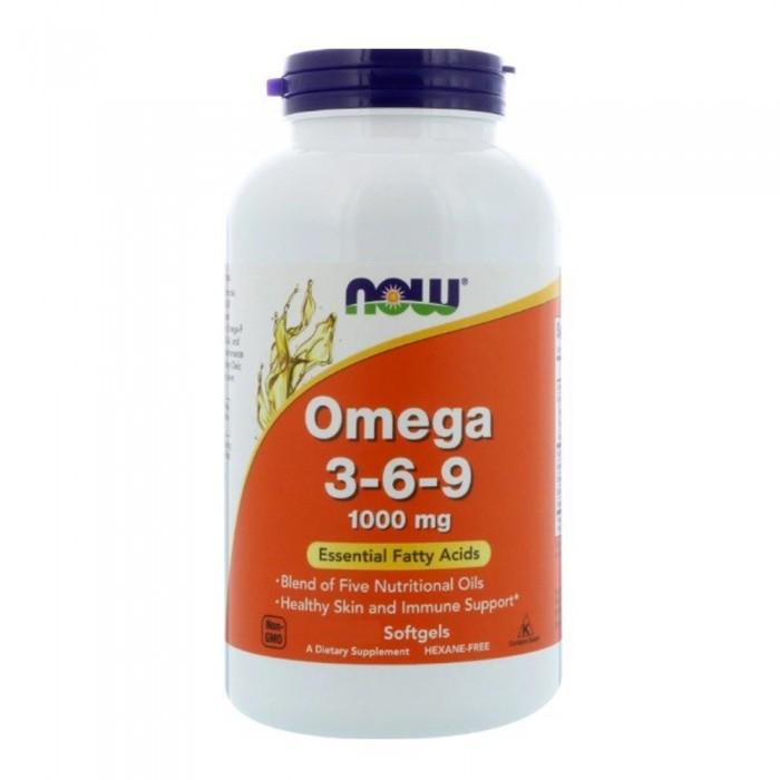 NOW Omega 3-6-9 1000 mg õlikapslid (250 tk)