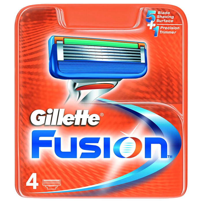 Gillette Fusion5 lisaterad (4 tk)