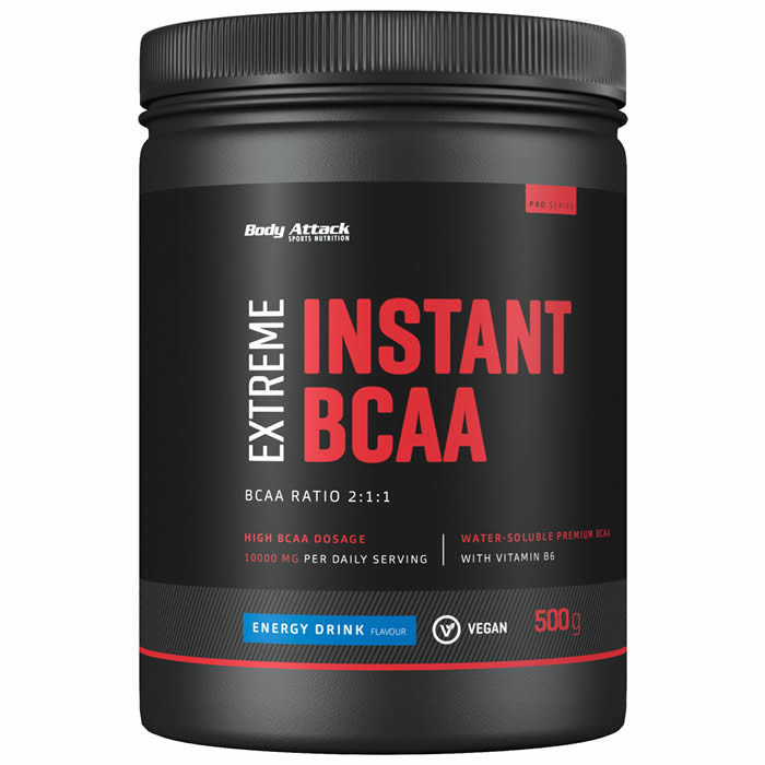 Body Attack Instant BCAA Extreme, Energy (500 g). Parim enne 30.11.2019