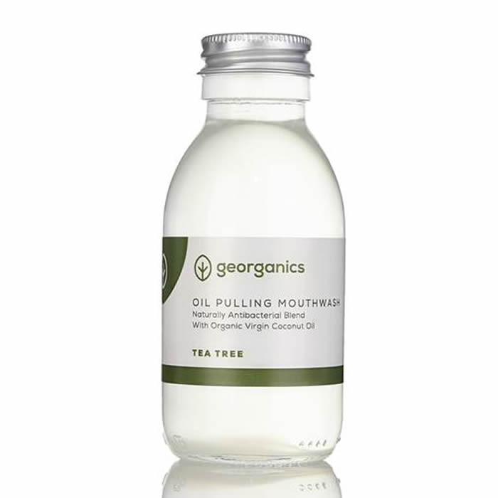 """Georganics orgaaniline suuloputusvahend """"Oil Pulling"""" kookosõli baasil, Teepuuõliga (100 ml)"""