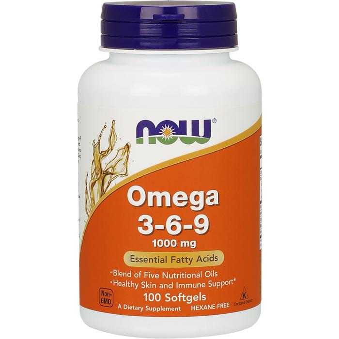 NOW Omega 3-6-9 1000 mg õlikapslid (100 tk)