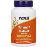 NOW Omega 3-6-9 1000 mg õlikapslid (100 tk)