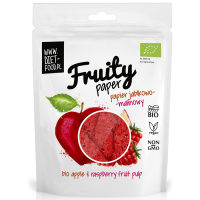 Diet Food Fruity Paper orgaanilised marjakrõpsud, Õuna-vaarika (25 g)
