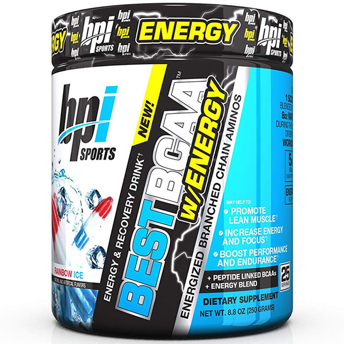 BPI Sports Best BCAA W/ENERGY, Rainbow Ice (300 g)