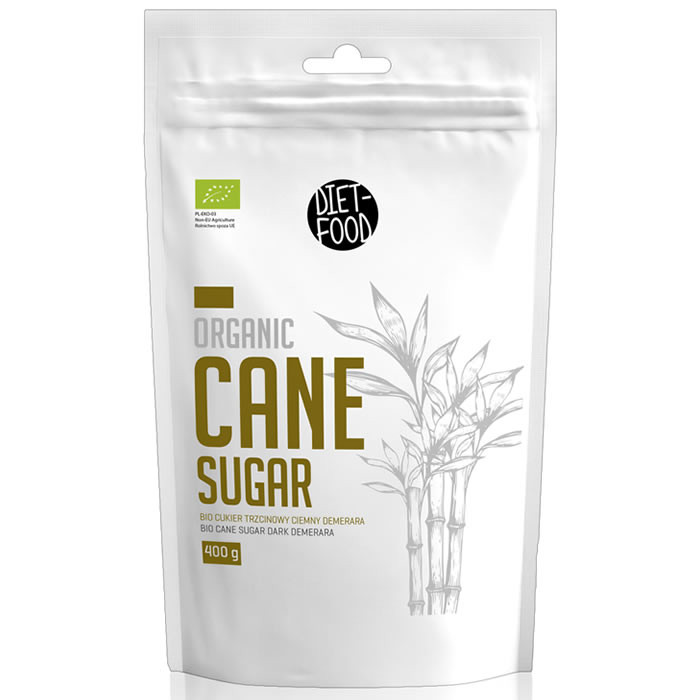 Diet Food Cane Sugar mahe roosuhkur, Demerara - tume (400 g)