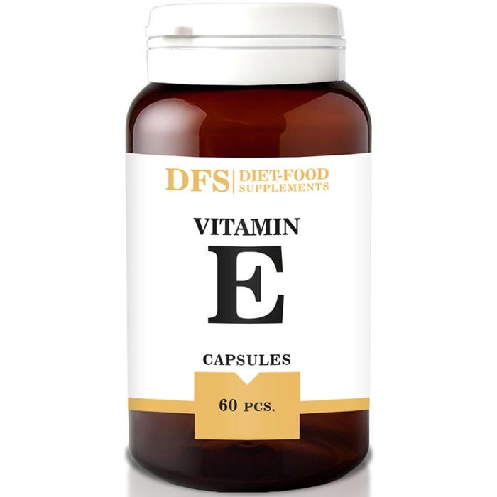 Diet Food naturaalse E-vitamiini softgel kapslid (60 tk)