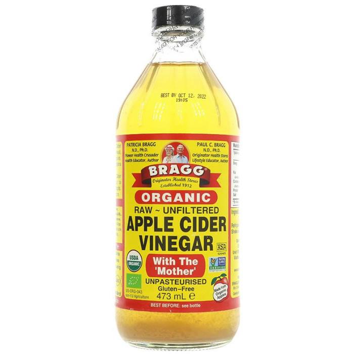 Bragg Apple Cider Vinegar w/Mother orgaaniline siidriäädikas (473 ml)