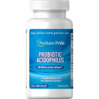 Puritan's Pride Probiotic Acidophilus kapslid (100 tk)