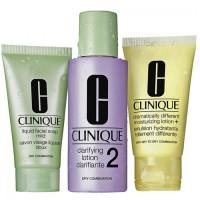 Clinique 3-Step Skin Care 2 komplekt kuivale ja kombineeritud nahale