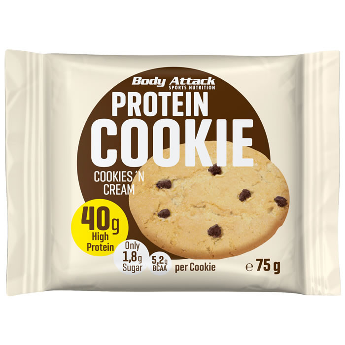 Body Attack Protein Cookie, Kreemiküpsise (75 g)
