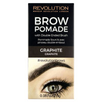 Makeup Revolution London Brow Pomade kreemjas kulmuvärv, Graphite (2.5 g)