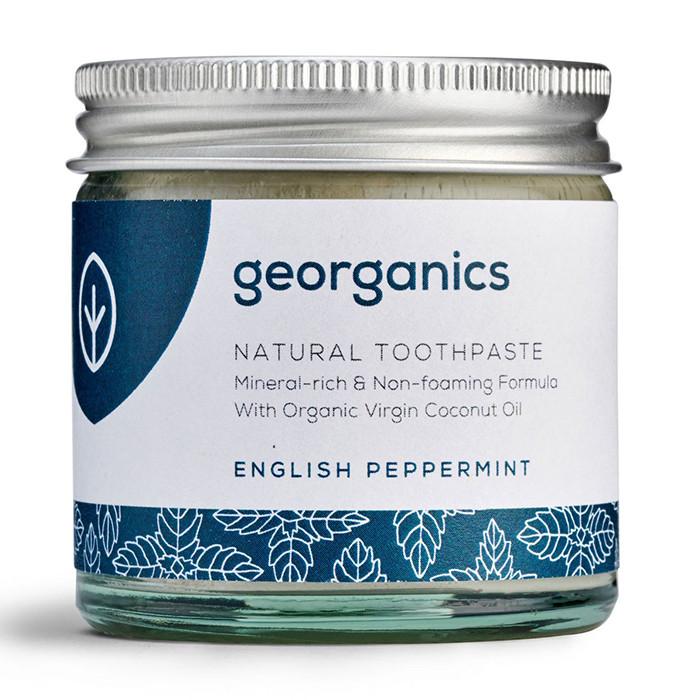 Georganics looduslik remineraliseeriv hambapasta kookosõli baasil, Metsiku inglise piparmündiga (120 ml)