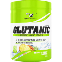 Sport Definition Glutanic (L-Glutamine), Tropical Fruit (490 g)