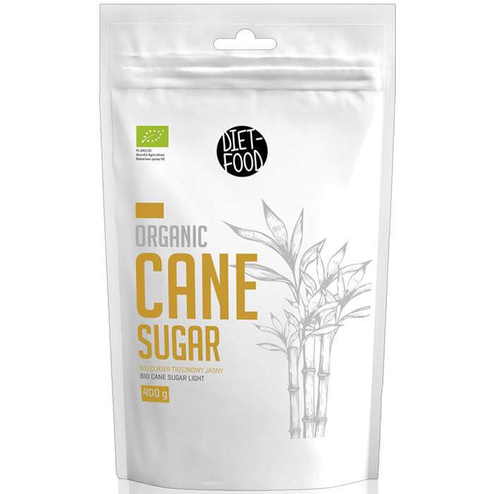 Diet Food Cane Sugar mahe roosuhkur, Light - hele (400 g)