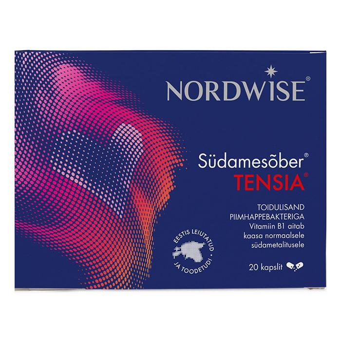 Nordwise Südamesõber® Tensia® Sünergistlik toidulisand südametalitlusele (20 kapslit)