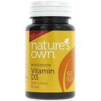 Natures Own Vitamin D3 2500 IU Vegan tabletid (60 tk)
