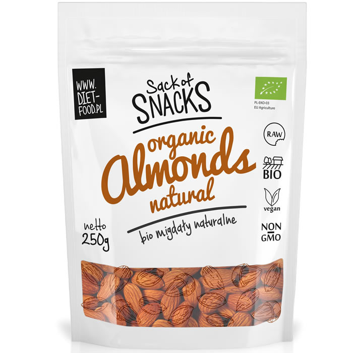 Diet Food Bio Almonds orgaanilised mandlid (250 g)