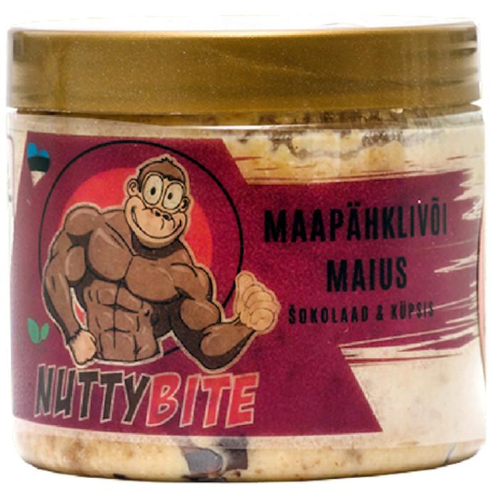 Nuttybite krõmpsuv maapähklivõi maius, Tumeda šokolaadi & täisteraküpsise (250 g)