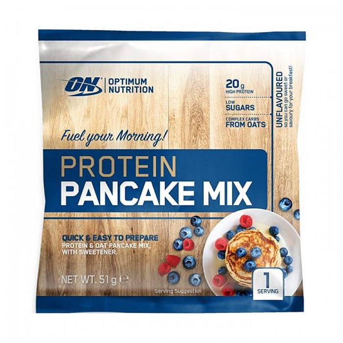 Optimum Nutrition valgurikas pannkoogijahu, Maitsestamata (51 g)