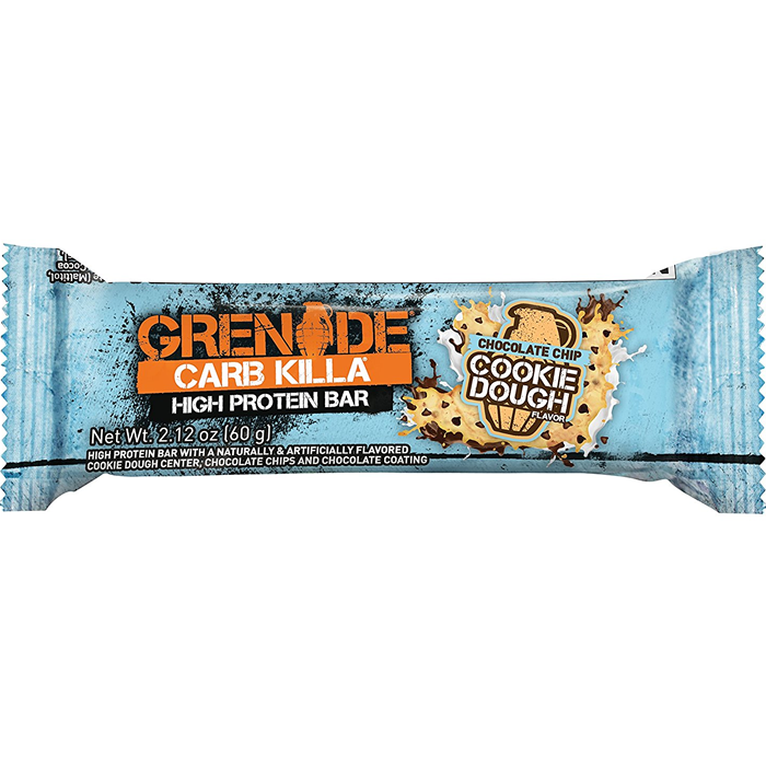 Grenade Carb Killa krõmpsuv valgubatoon, Chocolate Chip Cookie Dough (60 g). Parim enne 01.02.2019