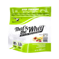 Sport Definition That's the Whey valgupulber, Maasika-banaani (300 g) . Parim enne 01.2020