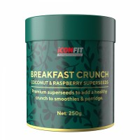 ICONFIT Breakfast Crunch, Kookose-vaarika (250 g)