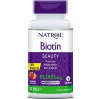 Natrol Biotin 10000mcg närimistabletid (60 tk)