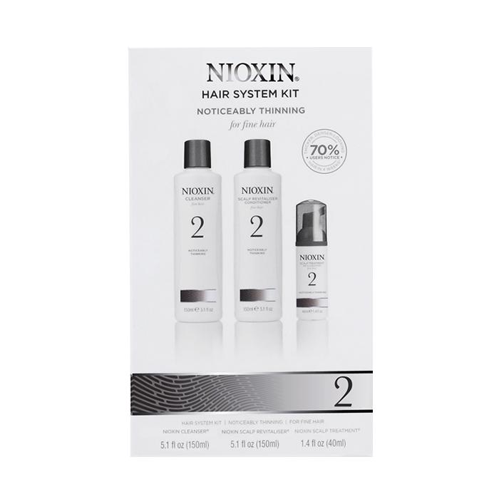 Nioxin 2 juuksehoolduskomplekt (150 ml + 150 ml + 40 ml)